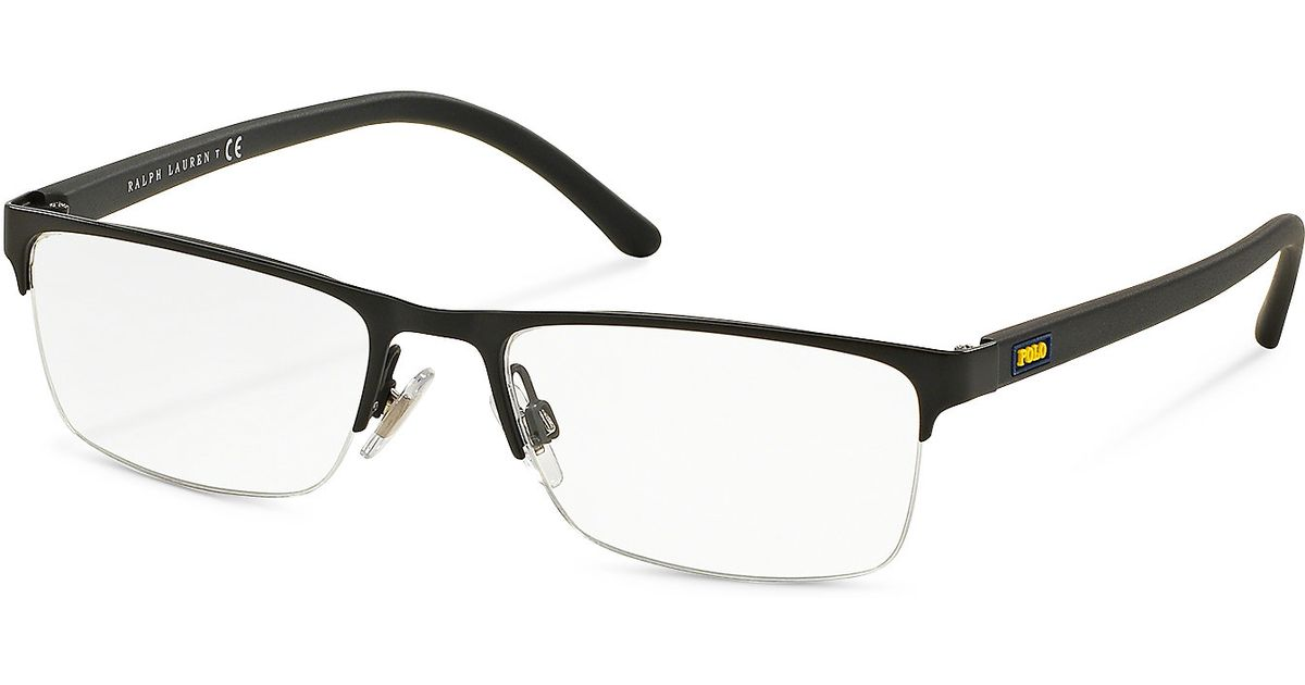 Rimless Glasses Nylon : Polo ralph lauren Rimless Rectangular Eyeglasses in Black ...