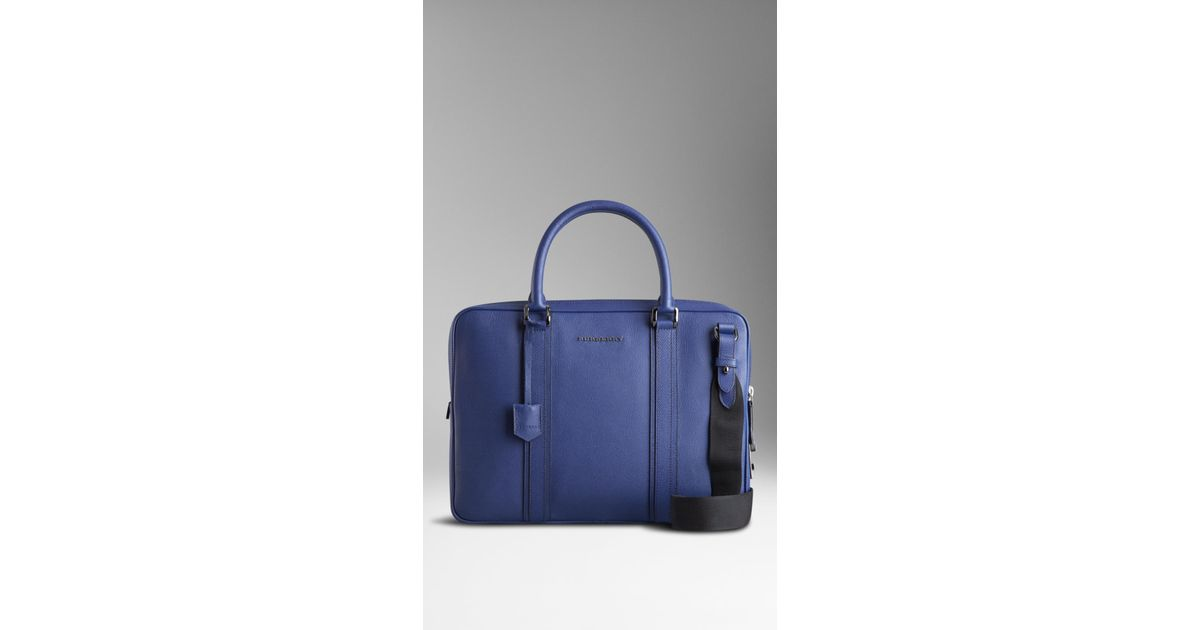 23d0ad313218 Lyst - Burberry Colour Coated London Leather Crossbody Briefcase in Blue for  Men