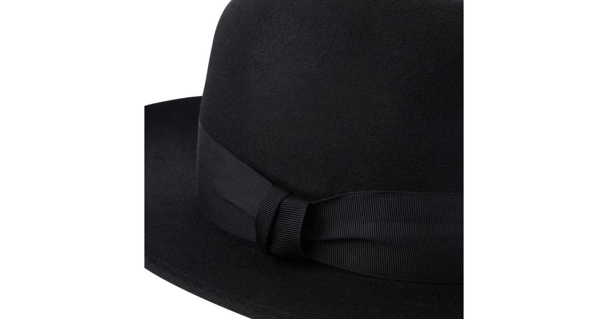 c8f868c1e17 Christys  Grosvenor Wool Felt Wide Brim Fedora Hat in Black for Men - Lyst