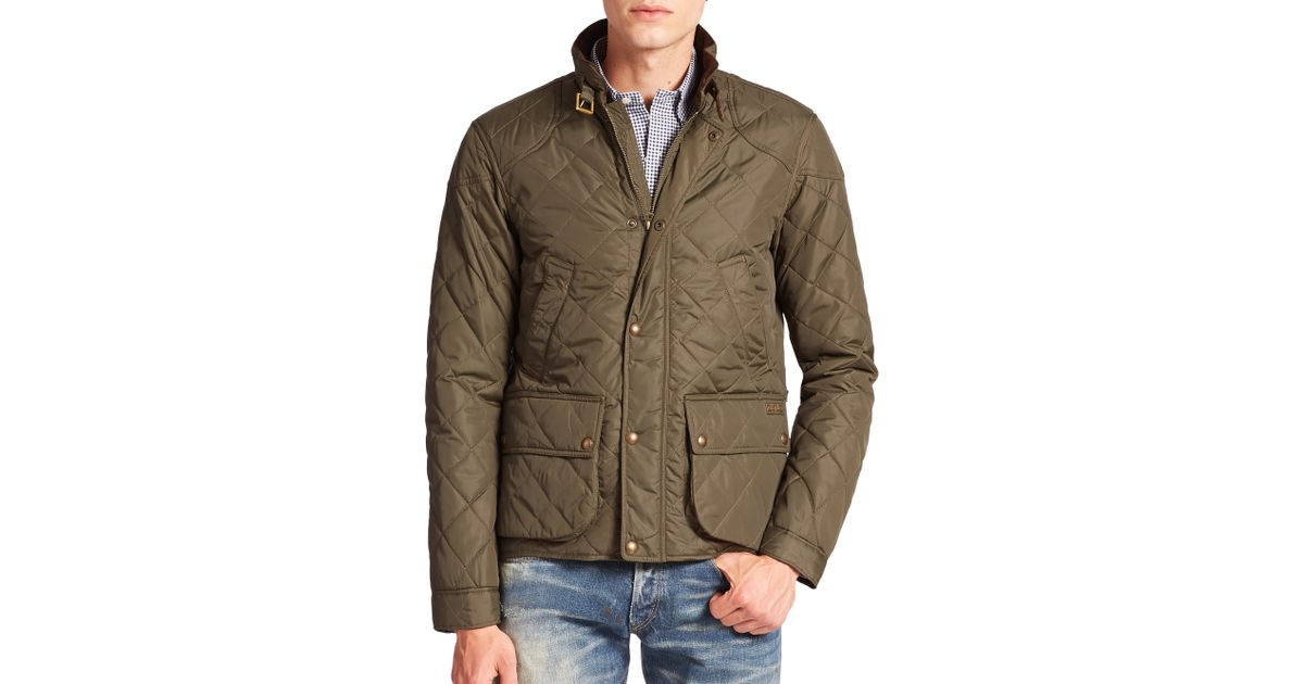 Polo Ralph Lauren Cadwell Quilted Bomber Jacket In Green