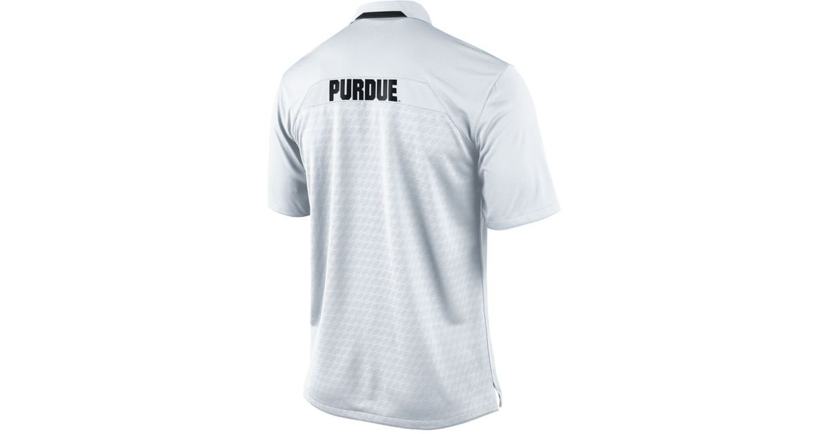 1716b6f88 Lyst - Nike Men S Short-Sleeve Purdue Boilermakers Dri-Fit Polo in White  for Men