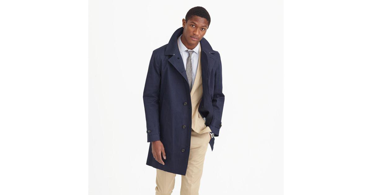 Hancock Waterproof Trench Coat in Blue for Men | Lyst