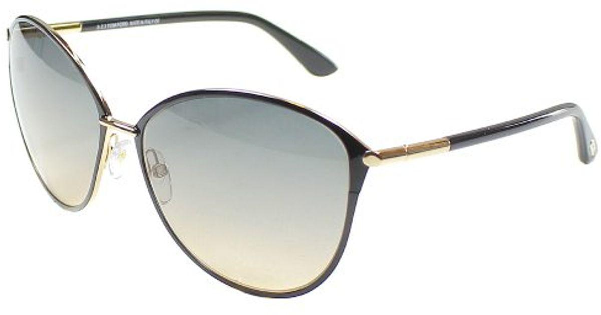 tom ford tf 320 penelope 28b black cat eye sunglasses grey. Black Bedroom Furniture Sets. Home Design Ideas