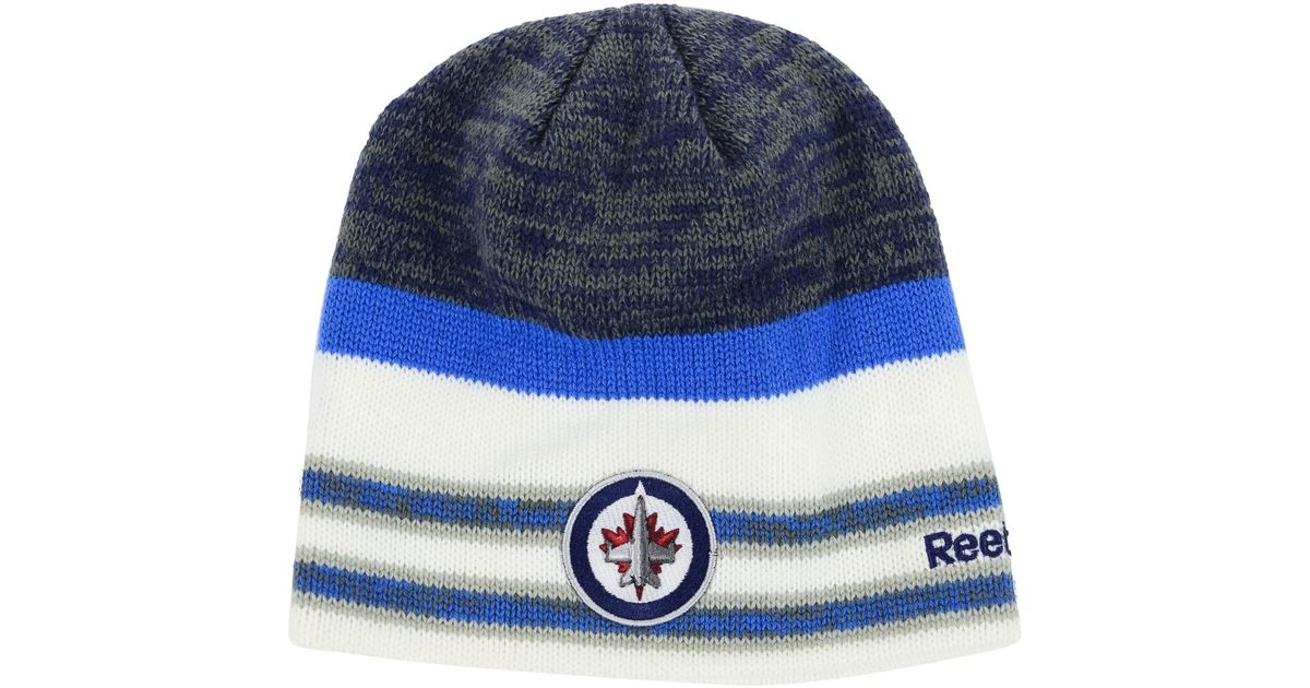 72ff5d2101ddd norway toddler winnipeg jets hockey knit 0d19a 93f08  coupon code lyst reebok  winnipeg jets player knit hat in blue for men dcee3 52c51