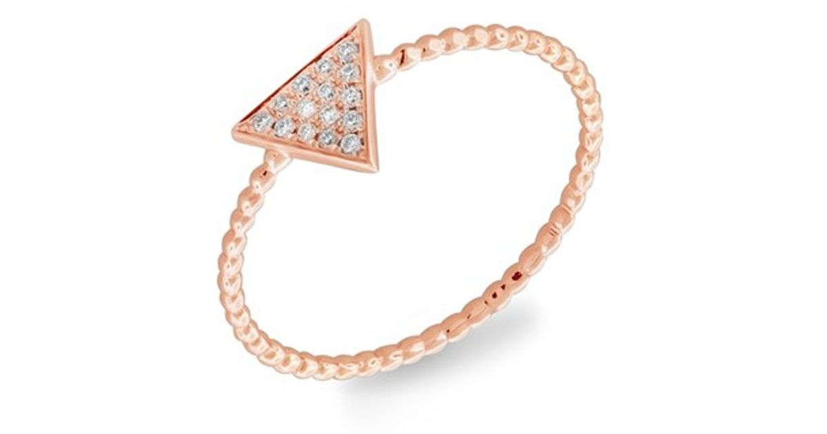 0a87083d28748 Bony Levy Pink Triangle Diamond Pave Ring (nordstrom Exclusive)
