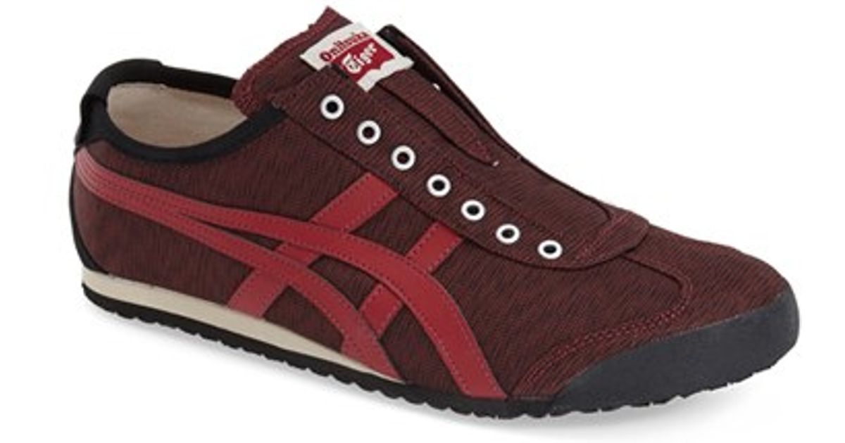 low priced 75179 78835 Onitsuka Tiger Red Mexico 66 Slip-On Sneakers for men