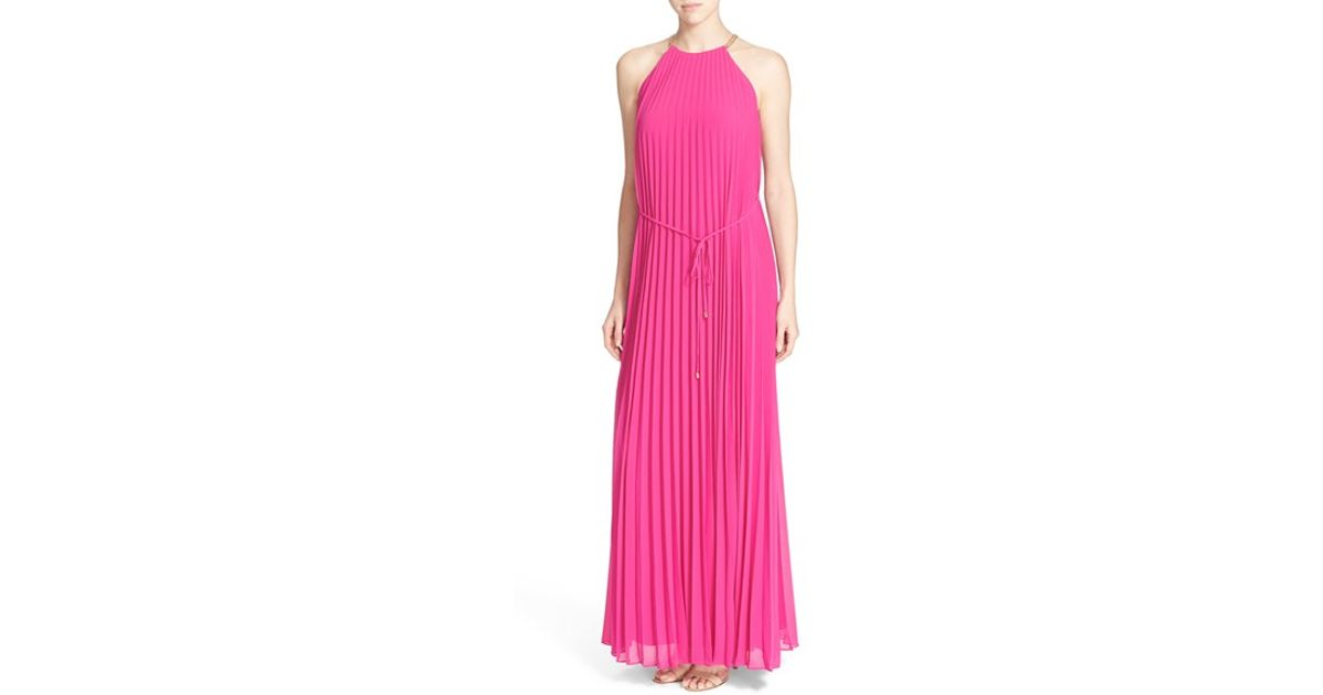 877473ace72ac Lyst - Ted Baker  hannaa  Pleated Maxi Dress in Pink