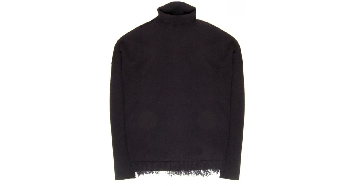 Lyst - Dorothee Schumacher Pure Black Fringe Fanatic Pullover in Black 368448575