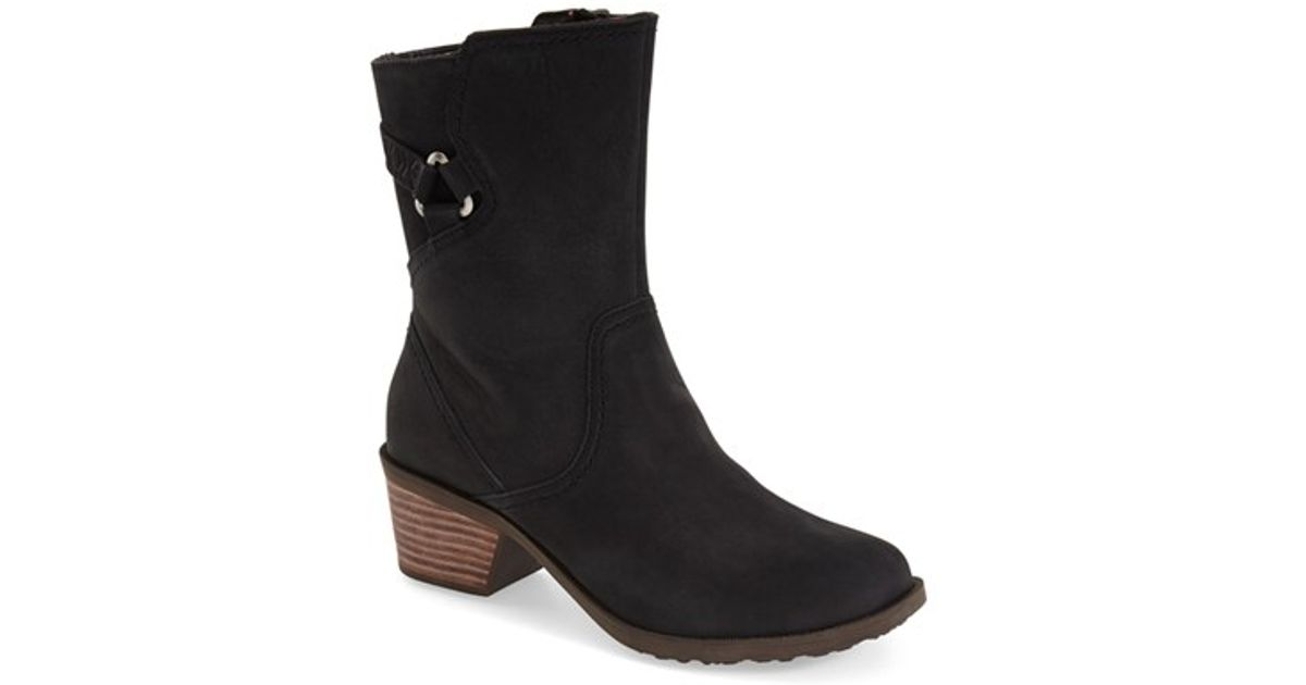 3b06bfe352db Lyst - Teva Foxy Leather Ankle Boots in Black