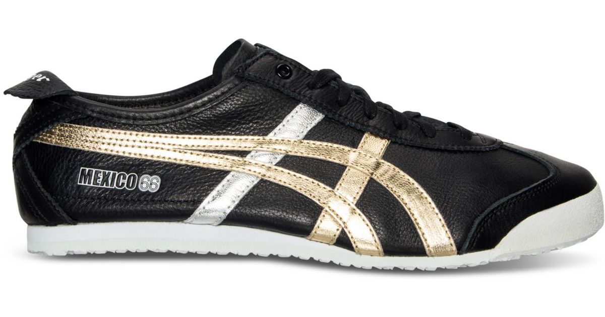 official photos 59b87 ed80f Asics Black Men's Onitsuka Tiger Mexico 66 Casual Sneakers From Finish Line  for men