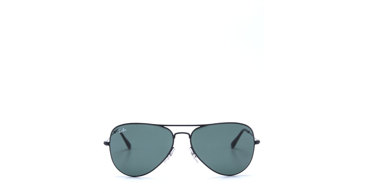 765f9c4cecf1 Lyst - Ray-Ban Thin Aviator Sunglasses in Black for Men