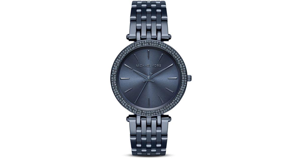 264f96c34ce0 Lyst - Michael Kors Blue Darci Watch