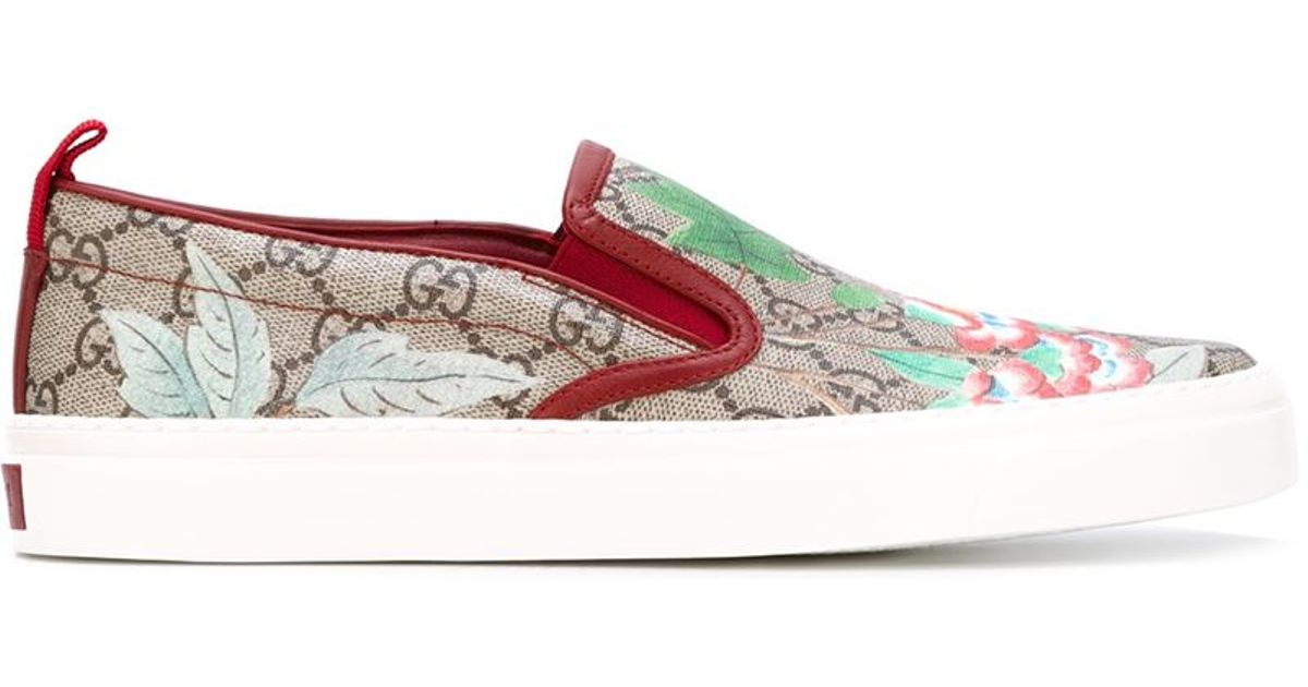 9bc073ad1f0a Lyst - Gucci  tian  Floral Slip-on Sneakers for Men
