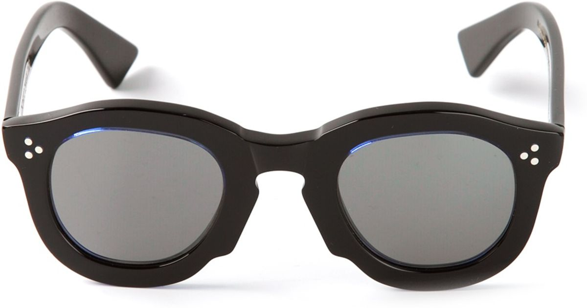 d1308052ce Lyst - Cedric Charlier Thick Frame Round Sunglasses in Black