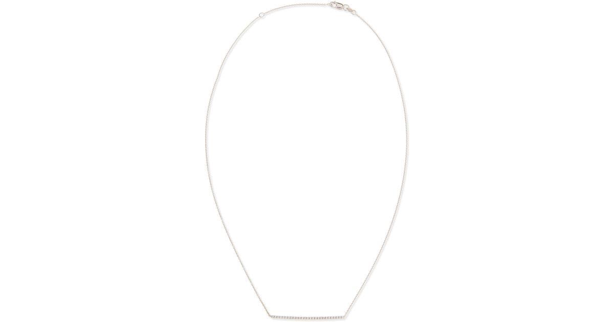 Roberto Coin 18k Gold Diamond Bar Necklace 5kzt1f