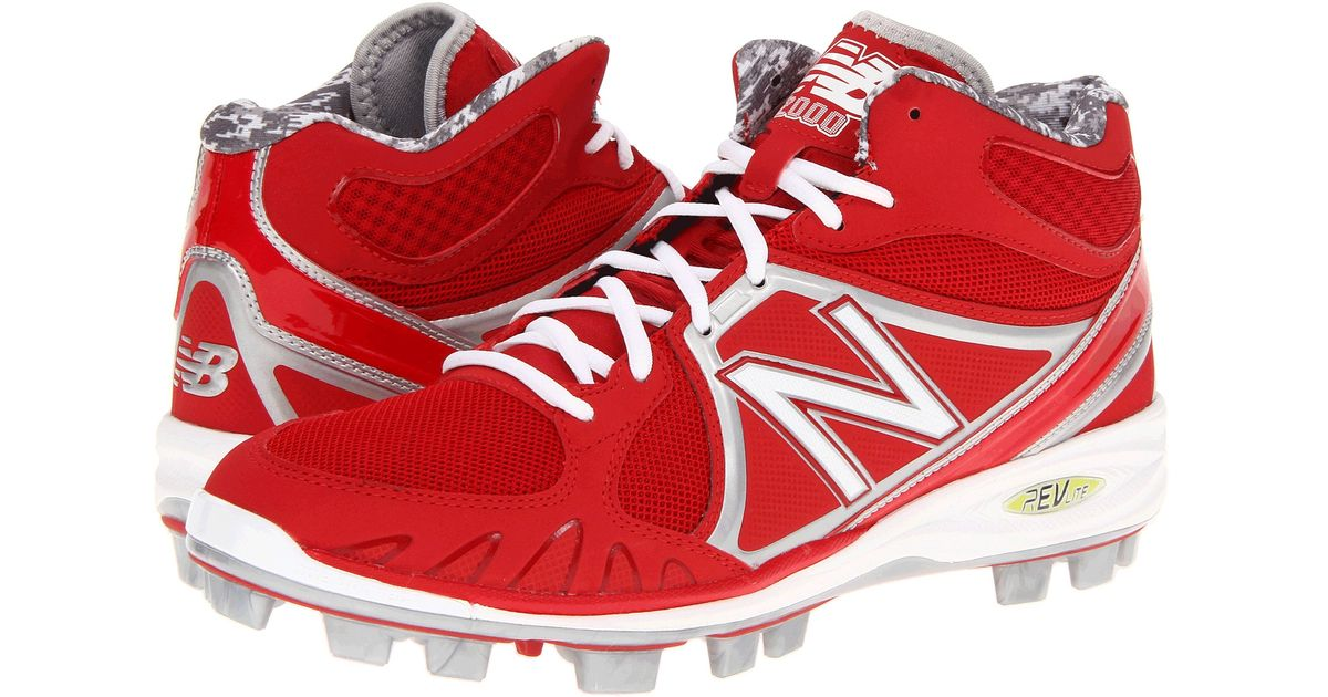 e6bf58fa8 New Balance Mid-cut 4040v3 Tpu Molded Cleat in Red for Men - Lyst