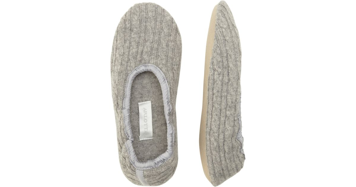 Lyst Arlotta By Chris Arlotta Cable Knit Cashmere Ballet Slippers