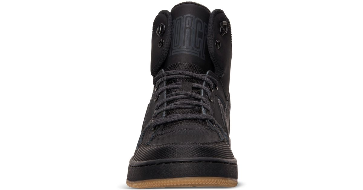 7d66467fc5f Lyst - Nike Men s Son Of Force Mid Winter Casual Sneakers From Finish Line  in Black for Men