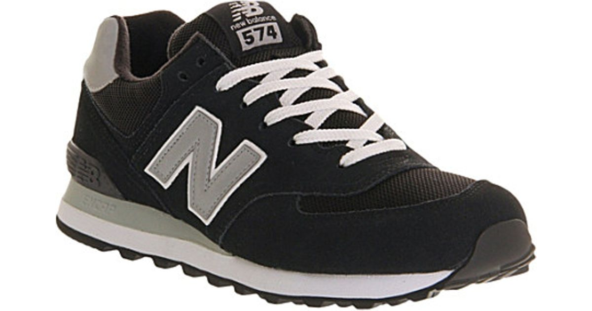 new arrival d3047 507e1 New Balance Black 574 Suede Trainers - For Men for men