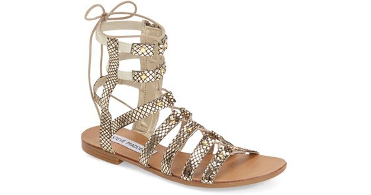 'sparra' Madden Gladiator Metallic Sandal Steve DYbWH2e9IE