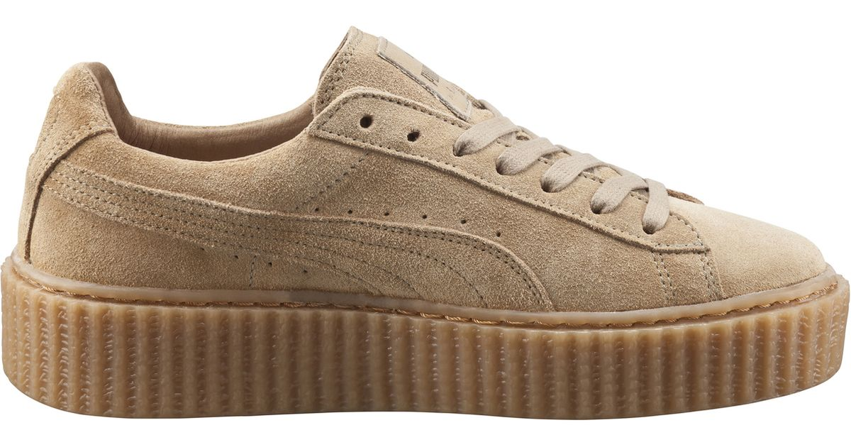outlet store 0ff02 b2c47 PUMA Natural X Rihanna Suede Creepers - Oatmeal