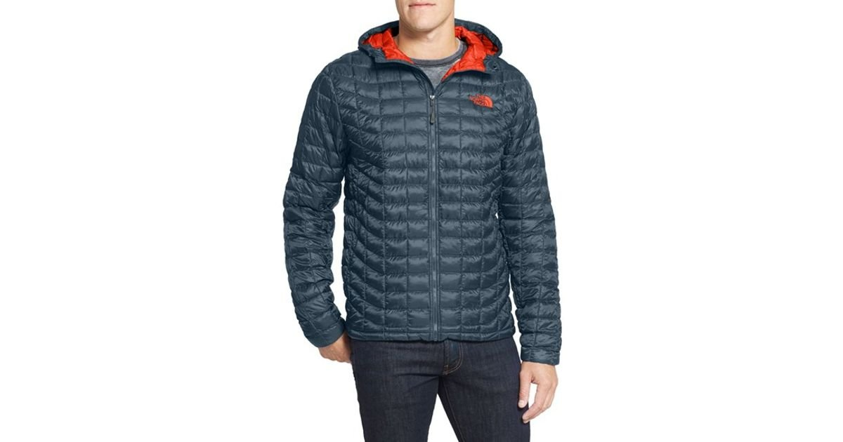 8ce713e1d The North Face Blue 'thermoball' Primaloft Hoodie Jacket for men