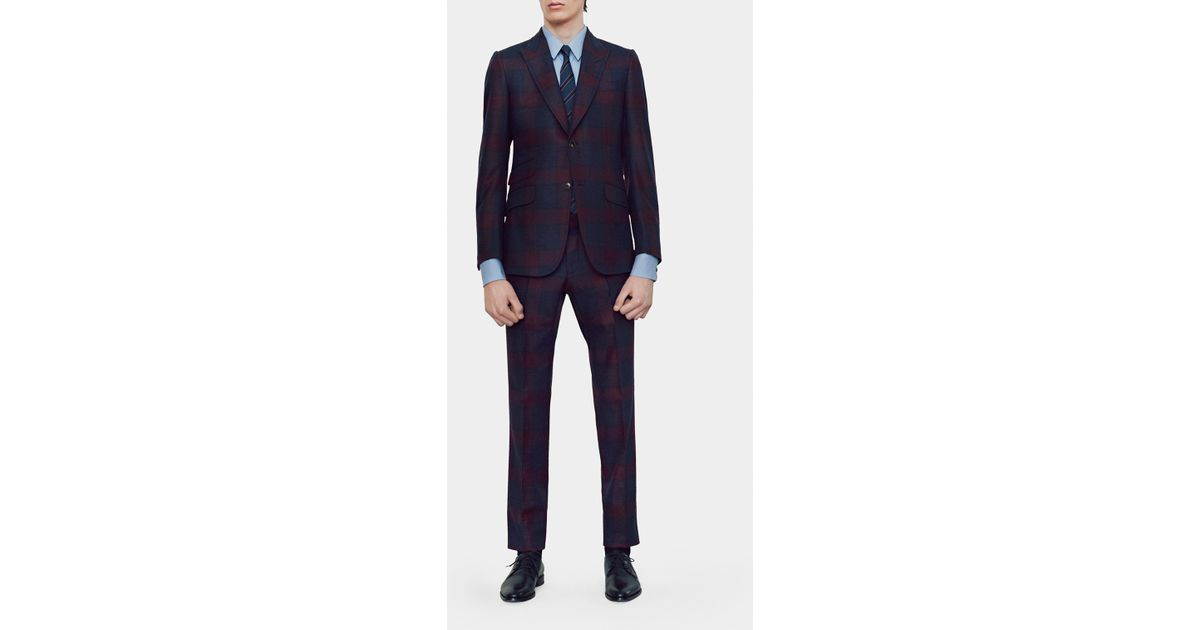 2ea027c6c Lyst - Gucci Checked Flannel Heritage Suit in Blue for Men