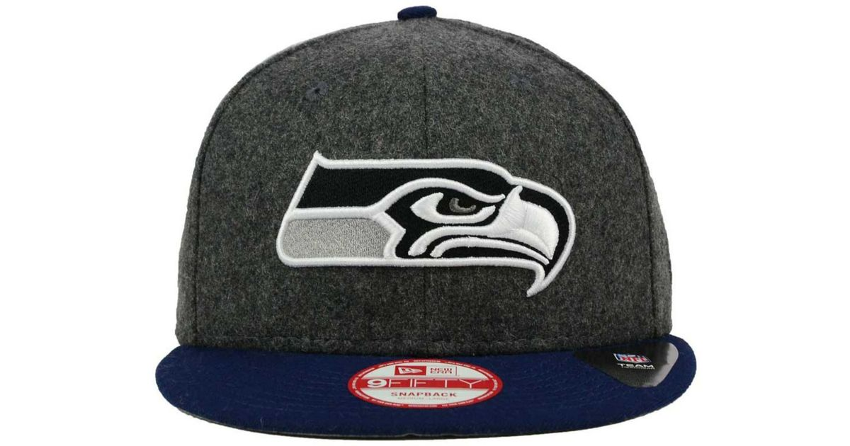 new concept f7ea0 cc51a Lyst - KTZ Seattle Seahawks Shader Melt 9fifty Snapback Cap in Gray for Men