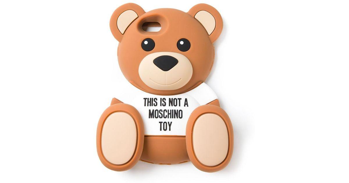 sports shoes 4e5ca 7e99c Moschino Brown Teddy Bear Iphone 6 Case