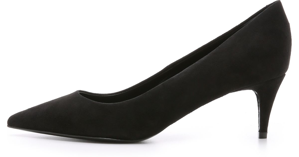 8887c666155e Lyst - Alexander Wang Ana Suede Pumps in Black