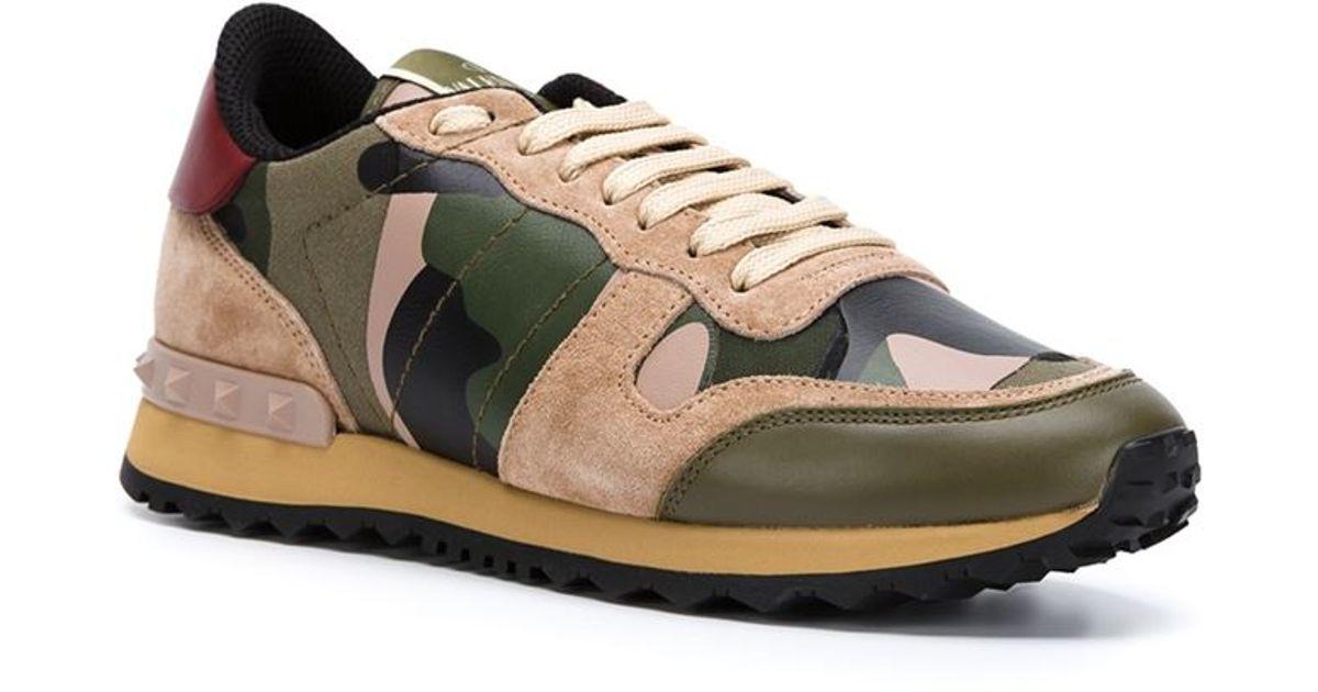 Sneaker Rockrunner Camouflage Valentino uF1skBOP