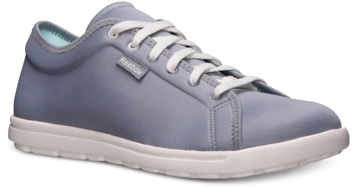Lyst - Reebok Women s Skyscape Runaround Walking Sneakers From Finish Line  in Blue da35b92a3