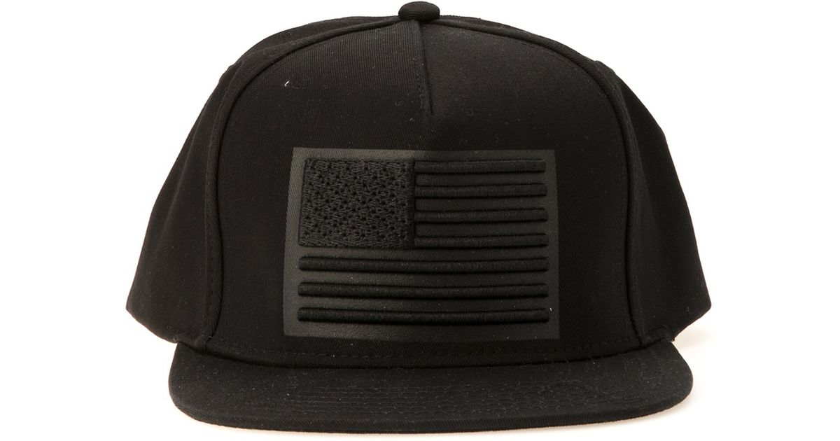 Stampd Black 3d American Flag Hat for men