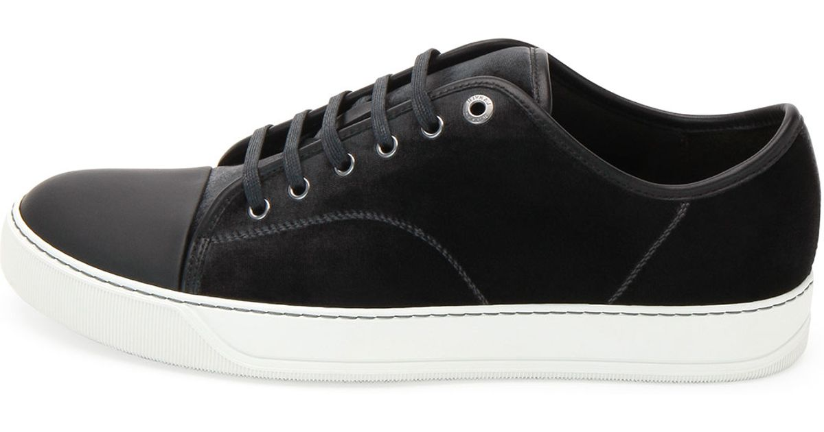 Lanvin Cap-Toe Low-Top Sneakers under 50 dollars cheap best store to get top quality for sale discounts online bLNgTV