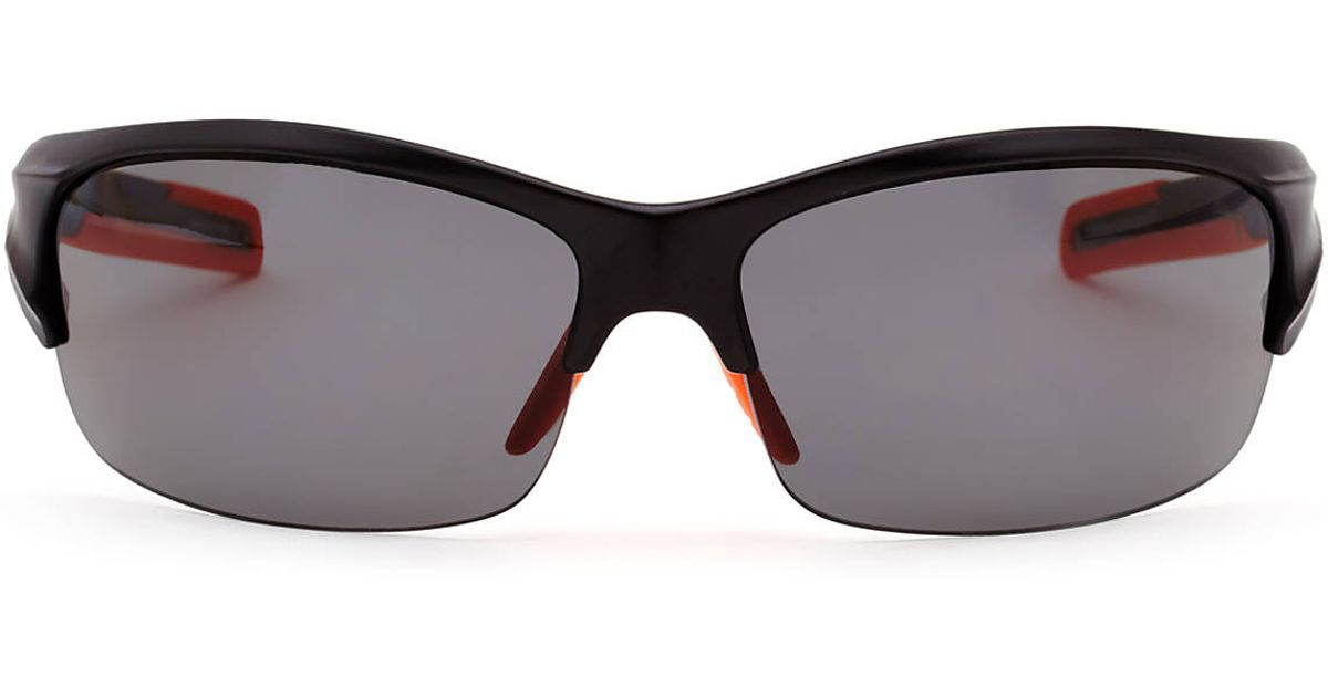 abd94506b49 Lyst - Puma Pu14704P Black Half-Rim Wrap Polarized Sunglasses in Black for  Men