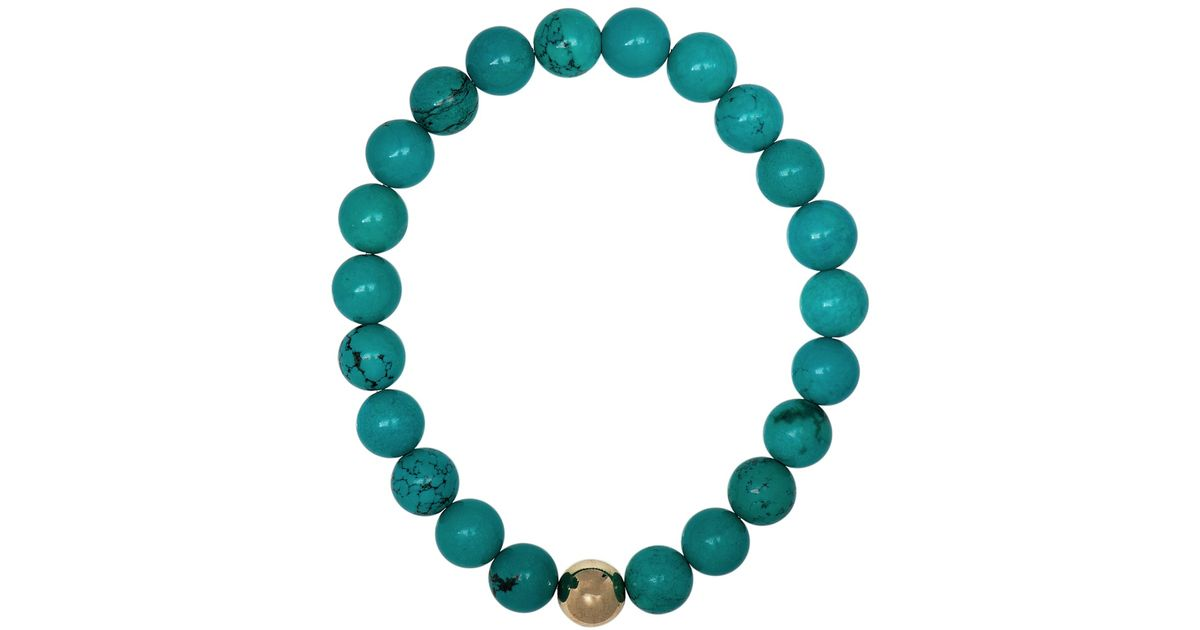 467f5ee1dc18 Lyst - Ali Grace Jewelry Turquoise Gold Ball Bracelet in Blue