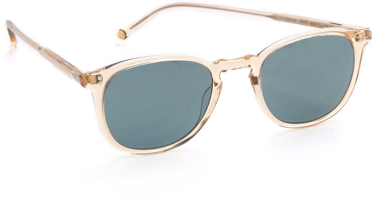 4b0c8f78c59 Lyst - Garrett Leight Kinney Polar Sunglasses - Champagne Blue Smoke in Blue