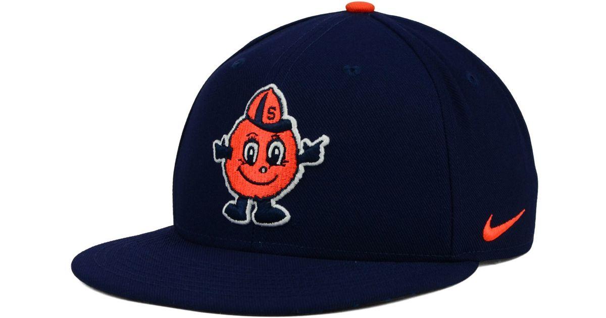 new styles 3fc7e 779e9 ... australia lyst nike syracuse orange true hardwood seasonal cap in blue  for men 071f9 d8fc6