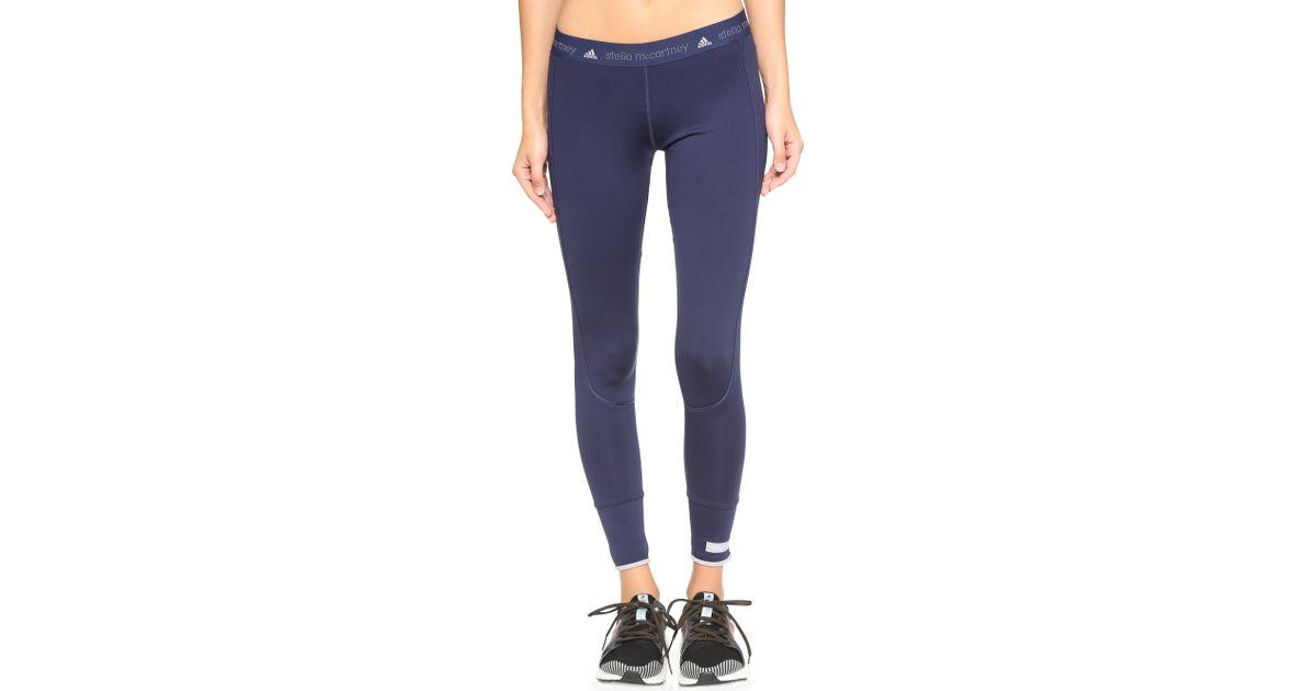 5857cc8e400f65 adidas By Stella McCartney Performance Essentials 7/8 Leggings in Blue -  Lyst