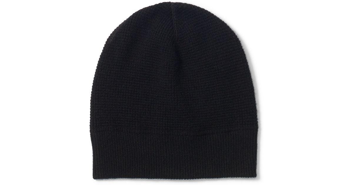 bea7cf6d7 Polo Ralph Lauren Black Waffle-knit Cashmere Hat for men