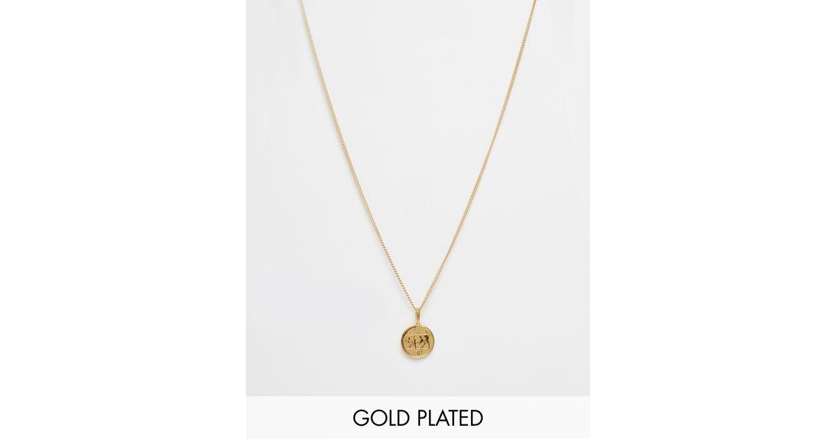 Katie Mullally Metallic Gold Five Pence Irish Coin Necklace