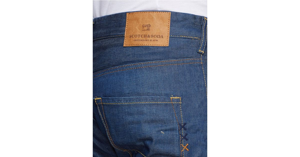 Scotch & Soda - Blue Phaidon Super Slim-fit Jeans for Men - Lyst