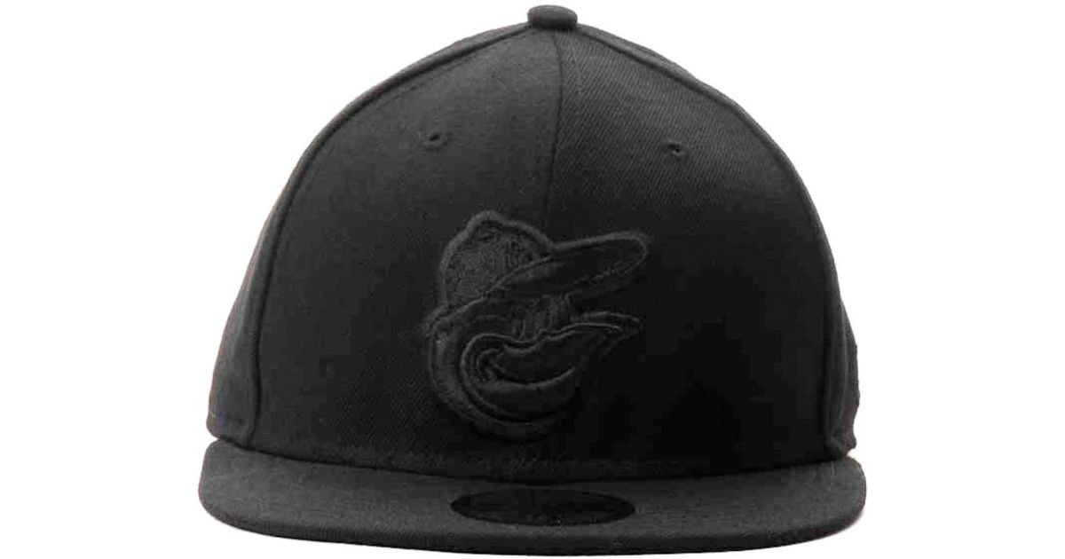official photos bb825 a01cf Lyst - Ktz Baltimore Orioles Black On Black Fashion 59fifty Cap in Black  for Men