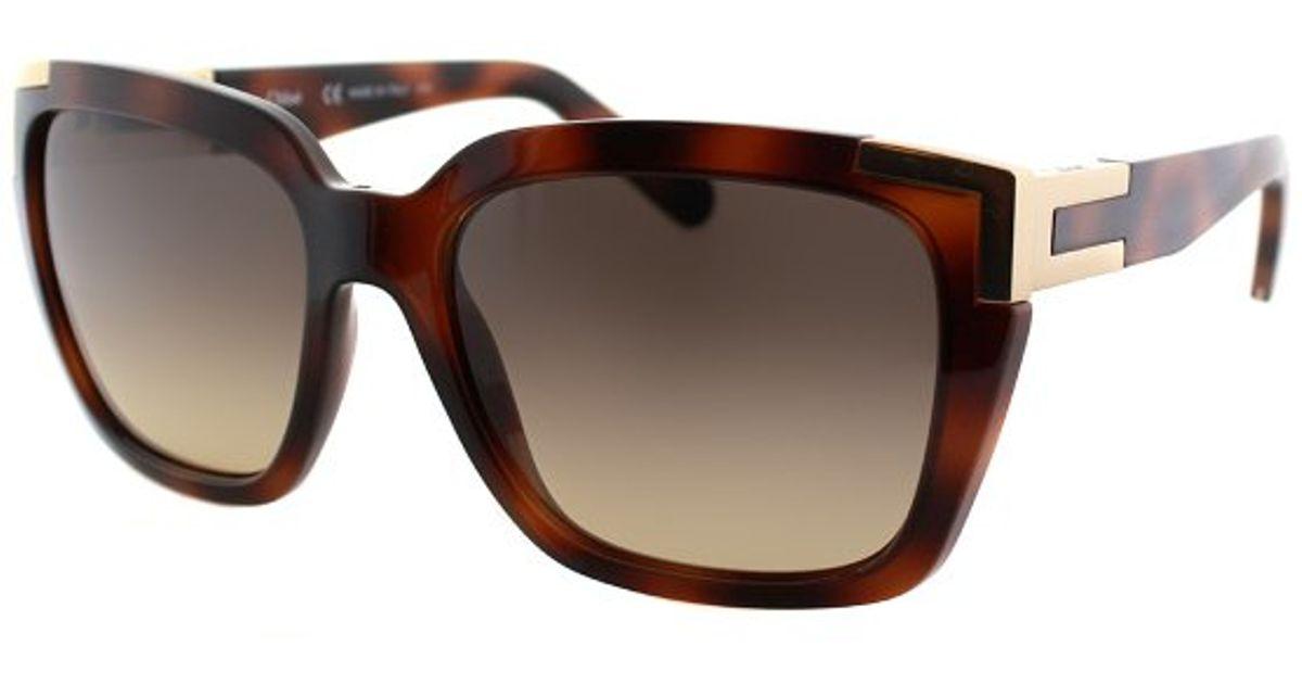 9f2e5f66c9 Lyst - Chloé Ce 632s 218 Havana And Gold Fashion Plastic Sunglasses in Brown