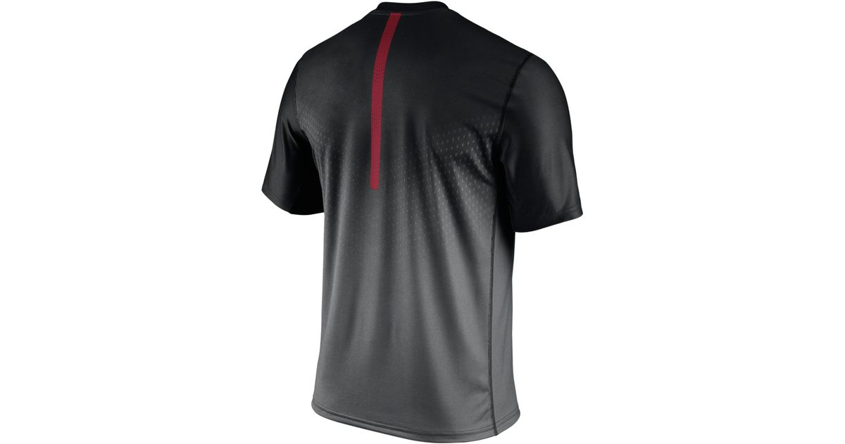 nike s atlanta falcons legend sideline dri fit t shirt in black for lyst