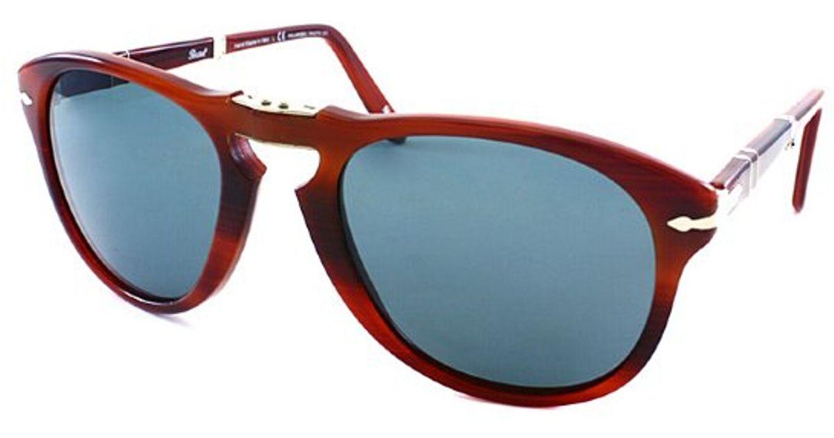 7c3096b5573692 steve mcqueen persol sunglasses amazon Source · Persol Po 714 957 4n  Rectangle Polarized Foldable Sunglasses in