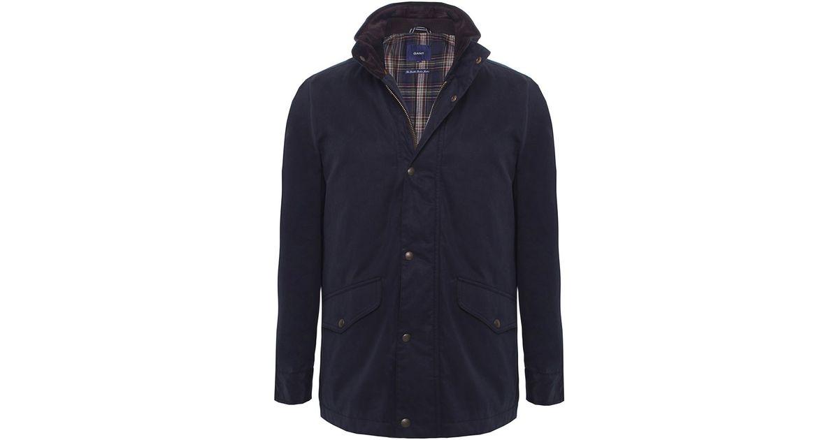 df30751c198 GANT Double Decker Jacket in Blue for Men - Lyst