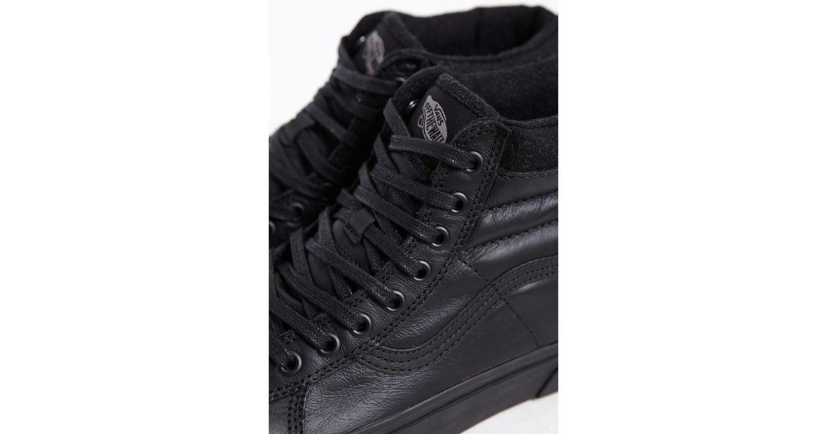 b1874f03 Vans Black Sk8-hi Matte Leather Mte Sneaker for men