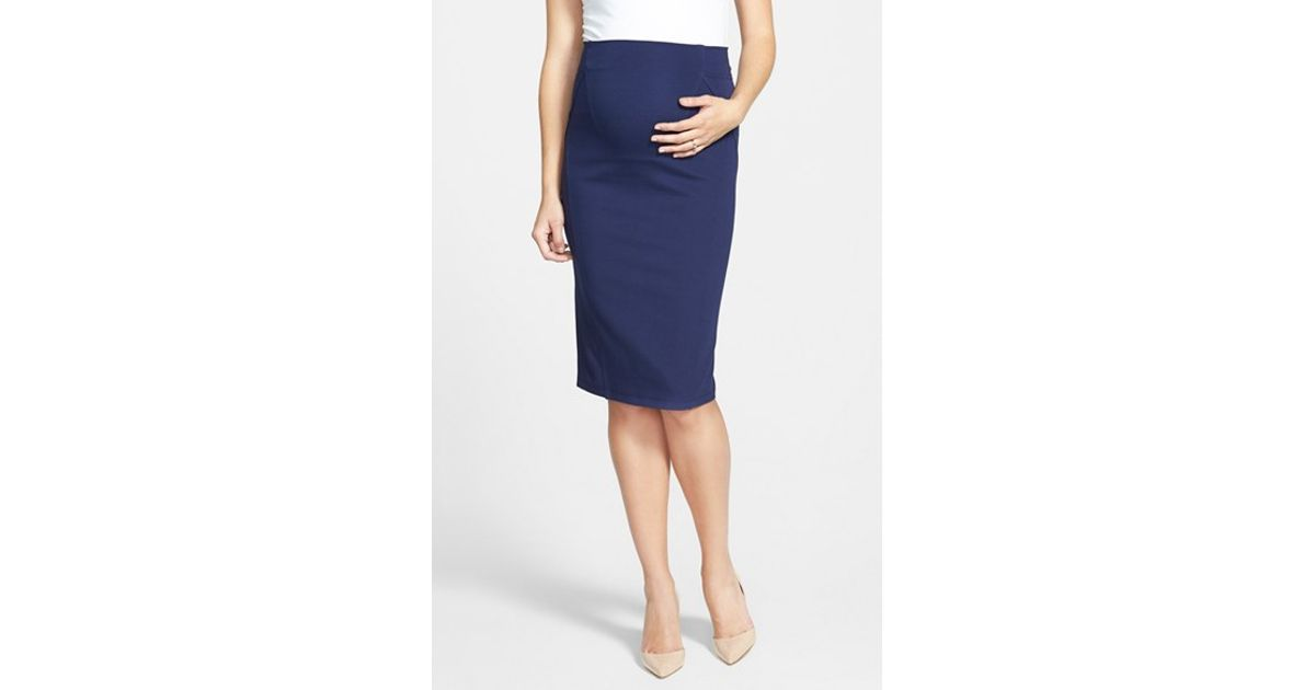blue maternity skirt pictures