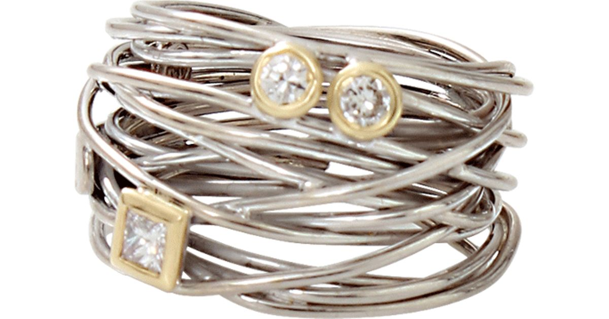 Lyst - Boaz Kashi Diamond Wire Wrap Ring in Metallic